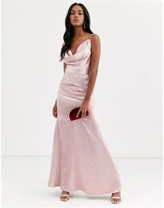 Атласное платье макси City goddess