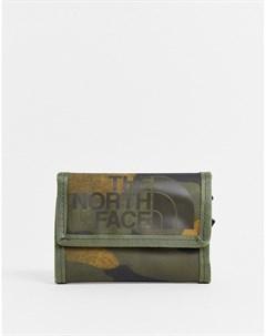 Бумажник цвета хаки с камуфляжным принтом Base Camp Зеленый The north face