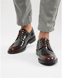 Бордовые блестящие туфли на шнуровке Zign
