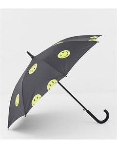 Черный зонт Smiley Chinatown market
