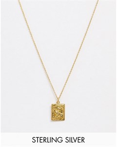 Серебряное ожерелье с подвеской драконом 24 Серебряный Kingsley ryan