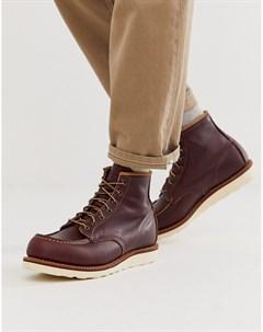 Бордовые ботинки высотой 6 дюймов classic moc Red wing
