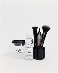 Подарочный набор для очищения кистей для макияжа с блестящей отделкой STYLPRO Бесцветный Stylpro