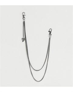 Двухъярусное ожерелье DesignB Серый Designb london