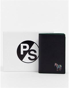 Черная визитница с логотипом Черный Ps paul smith