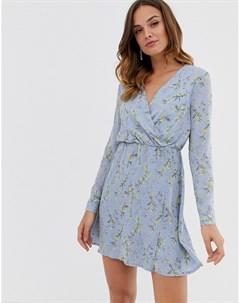 Платье мини с запахом Uttam boutique