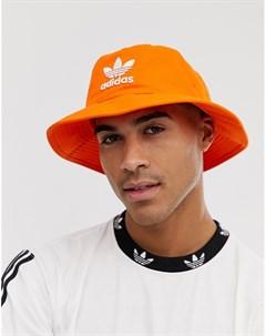 Оранжевая панама с логотипом Оранжевый Adidas originals