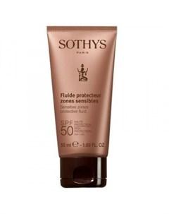 Флюид с SPF50 для лица и чувствительных зон тела Sensitive Zones Protective Fluid SPF50 High Protect Sothys (франция)