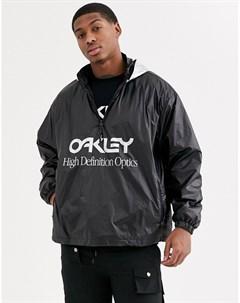 Черный серебристый анорак Oakley