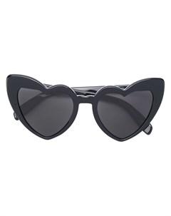 Солнцезащитные очки с оправой в форме сердца Saint laurent eyewear
