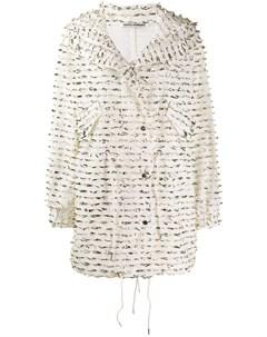 Однобортное пальто с отделкой Jourden