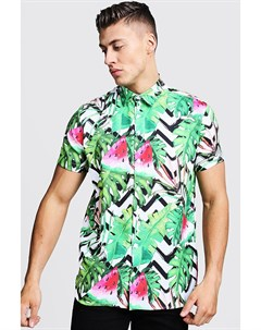 Рубашка с короткими рукавами и принтом в виде арбуза Boohoo
