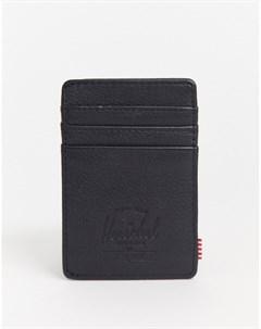 Черная кожаная визитница с защитой от RFID устройств Черный Herschel supply co