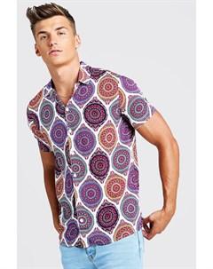Aztec Рубашка Revere с короткими рукавами и принтом Boohoo