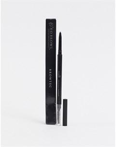 Карандаш и щетка для бровей browtec Серый Hd brows