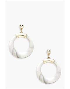 Крупные серьги кольца мраморного цвета Boohoo