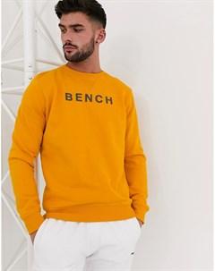 Oversize свитшот с принтом Желтый Bench
