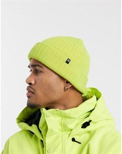 Неоново зеленая шапка бини Billabong