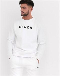 Свободный свитшот с принтом спереди Белый Bench