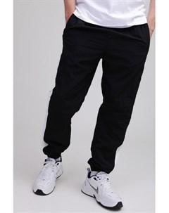 Брюки Side Striped Crinkle Track Pants Black White L Urban classics