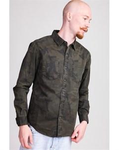 Рубашка Camo Shirt Olive Camo M Urban classics