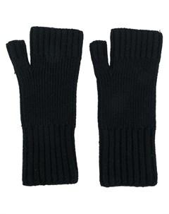 перчатки в рубчик без пальцев Ami paris