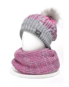 Комплект шапка снуд варежки Jagga