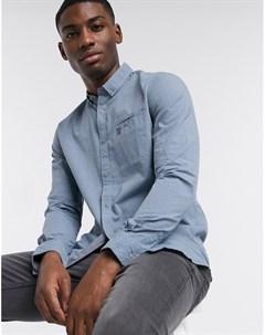 Голубая структурированная рубашка Tom tailor