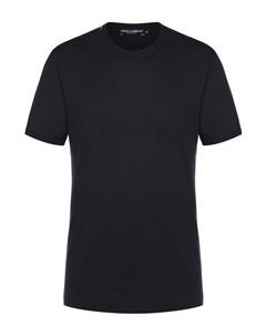 Хлопковая футболка с круглым вырезом Dolce&gabbana