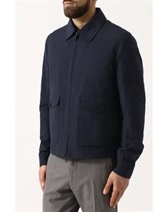 Куртка из смеси льна и хлопка на молнии Brioni