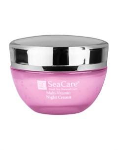 Омолаживающий ночной крем для лица с витаминами А Е Коэнзимом Q10 и минералами Мертвого моря 50 м Seacare