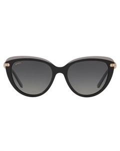 Солнцезащитные очки в оправе кошачий глаз Bulgari