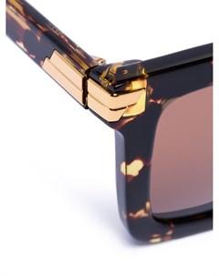 Солнцезащитные очки Havana в квадратной оправе Bottega veneta eyewear