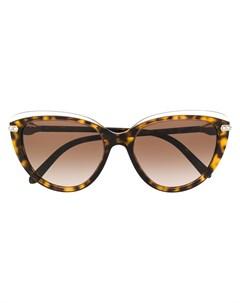 Солнцезащитные очки Serpenti в оправе кошачий глаз Bulgari