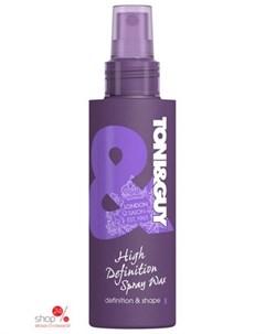 Спрей жидкий воск для волос моделирующий High Definition Spray Wax 150 мл Toni&guy