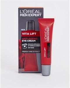 Антивозрастной крем для кожи вокруг глаз LOreal Men Expert Vita Lift 15 мл Бесцветный L'oreal men expert