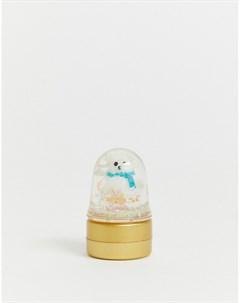 Бальзам для губ в виде снежного шара Бесцветный Beauty extras