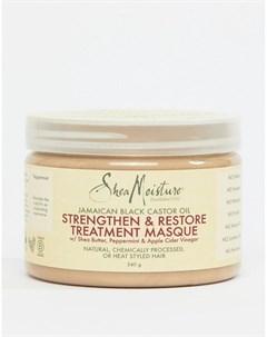 Укрепляющая маска для волос с черным касторовым маслом Бесцветный Shea moisture