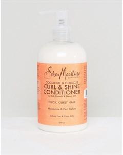 Кондиционер для волос с экстрактами кокоса и гибискуса Curl Shine Бесцветный Shea moisture