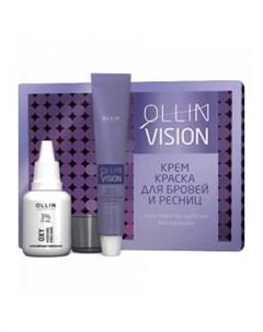 Крем краска для бровей и ресниц цвет Графит Ollin Vision Set Ollin professional (россия)