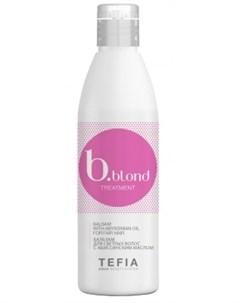 Бальзам BBlond Treatment для Светлых Волос c Абиссинским Маслом 250 мл Tefia