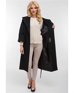Женское длинное шерстяное пальто с капюшоном Heresis