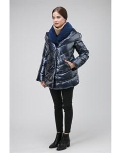 Короткая итальянская куртка на пуху с эффектом многослойности Visconf violanti