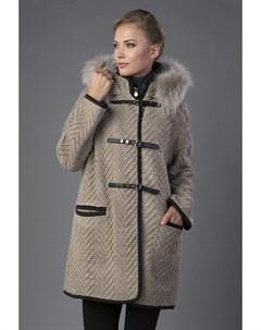 Модное осеннее женское пальто Visconf violanti