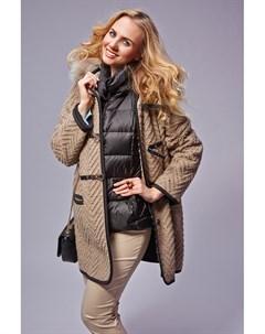 Модный женский дафлкот с капюшоном Visconf violanti
