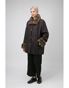 Короткое двустороннее пальто на меху Santini
