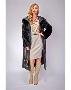 Двустороннее демисезонное пальто с натуральным кроликом Visconf violanti