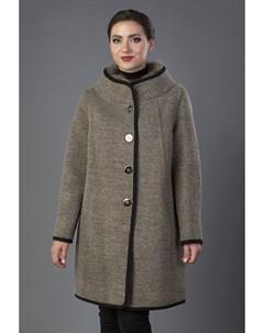 Драповое пальто средней длины на большой размер Visconf violanti