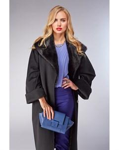 Женское пальто оверсайз с меховым воротником из норки Heresis