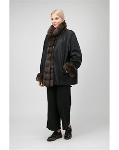 Модное двустороннее короткое пальто на меху Santini